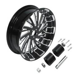 18and039and039 X 5.5and039and039 Cnc Rear Wheel Rim / Hub Fit For Harley Touring Street Glide 08-20