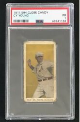 Rare 1911 E94 Close Candy Cy Young Psa 1 Pr - Nice Centering Old Cleveland
