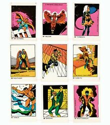 1980 Marvel Lot Of 72 Trading Cards From Captain America Rare Vintage