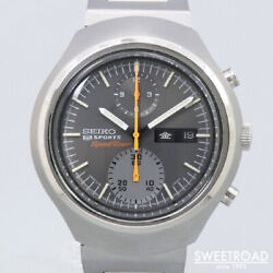Seiko 5 Sports 6138-0020 Vintage Speedtimer Chronograph Ss Automatic Mens Watch