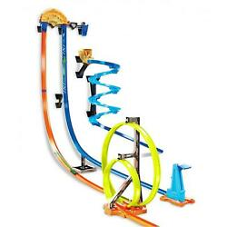 Car Wheels Track Builder Vertical Launch Kit With 3 Configurations Vehicle Toy