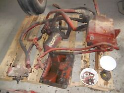 Farmall Super M Sm Mta Ih Tractor Live Hydraulic Pump And Reservoir And Control Rods