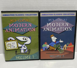 Mid-century Modern Animation Dvds Volume 1 And 2 Thunderbean Classics Collection