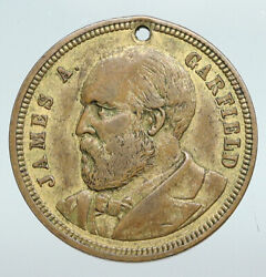 United States Usa President James A. Garfield Campaign Trade Token Medal I90756