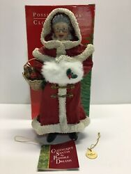 1988 Mrs. Claus Red Coat Clothtique By Possible Dreams In Original Box No 713078