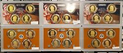 Lot Of 6 2008, 2010, 2011 Us Presidential 5 Coin Proof Sets - No Box