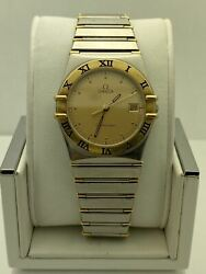 Omega Men's Constellation Swiss Made Yellow Gold Dial Watch