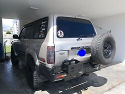Land Cruiser Lx 450 Rear Dual Swing Out Bumper Tow Hitch Rh Tire Lh Gas Carrier
