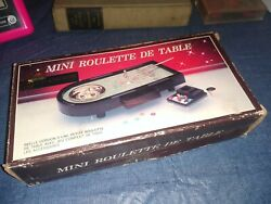 Mini Roulette De Table Game Frame Is Solid Metal And Base Plastic, Metal Rake,