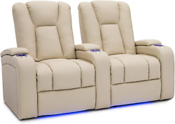 Seatcraft Serenity Leather Home Theater Seating - Power Recline - Tray Tables -