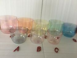 3rd Octave Magic Color Crystal Singing Bowl Cdefgabc4 8pcs With 4 Bags 432hz