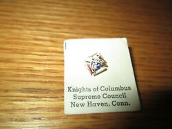 Vintage Enameled Red White Blue Lapel Pin Knights Of Columbus Supreme Council