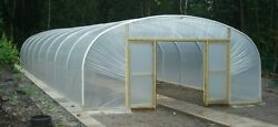 21ft Wide Polytunnel Greenhouse - 6.4m Wide Commercial Polythene Poly Tunnel