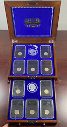 The Uncirculated Buffalo Nickel Collection Danbury Mint 10 Coins Display Case