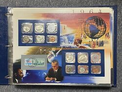 25 Years Of U.s. Uncirculated Coins Mint Sets 1964-1989 Postal Commemorative