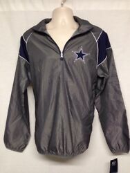 Dallas Cowboys Windbreaker Jacket Authentic Nfl Collection Size M     G2
