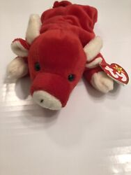 Rare Snort Ty Beanie Baby With Errors Pvc Pellets