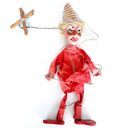 Creepy Mexican Marionette Puppet 17.5 Inches