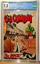 G.i.combat 68 - Cgc 7.5 - Off-white Pages - Sgt. Rock Prototype - Dc War Key