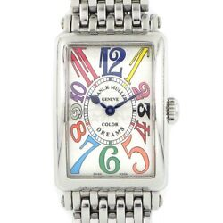 Auth Franck Muller Watch Long Island Color Dreams Stainless Steel Quartz