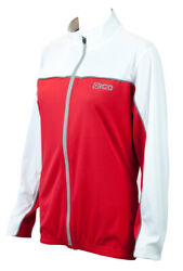 Eigo Holly Womens Long Sleeve Cycling Jersey Red / White - L