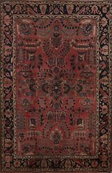 Antique Hand-knotted Traditional Area Rug Vegetable Dye Wool Oriental Carpet 4x7