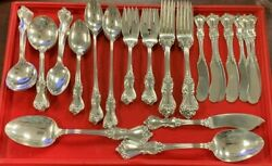 Genuine 59 Pc. Marlborough By Reed And Barton Sterling Silver Flatware Set Estate