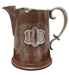 Maxwell And Berlet Aesthetic Movement Silver And Copper Beer Pitcher