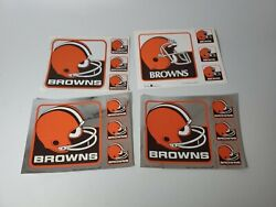 Lot Of 4 Vintage Nfl - Cleveland Browns Window Decal Stickers New Old Stock Item