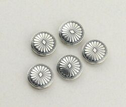Sterling Silver Southwestern Concho Flower Button Covers Set Of 5