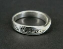 Ring Silver Be The Change You Wish To See In The World Sterling 925 Size 6.75