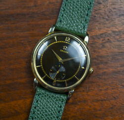 Vintage Omega 35mm 14kgf Bumper Automatic Watch Tropical Refinished Dial F6230