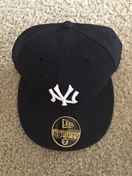 New Era New York Yankees Size 7 5950 Fitted Grey Bottom On Field Vintage Ds Hat