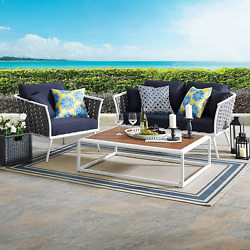 Modway Stance 3-piece Outdoor Patio Woven Rope Aluminum Loveseat Armchair And