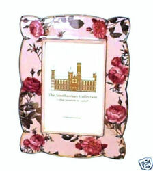 Smithsonian Collection Pink Rose Goebel 4 X 6 Photo Picture Frame