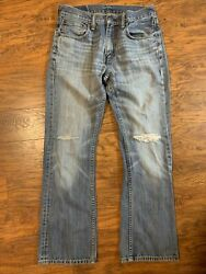 Mens 527 Slim Fit Bootcut Jeans Tag 32x32 Actual 30x30 Distressed