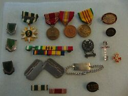 Named Vietnam Medals Service Ribbons Dog Tags Bracelet Idand039s And More