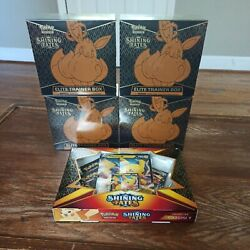 Pokemon Shining Fates Elite Training Boxes Etb Bundle 4 Factory Sealed Boxes