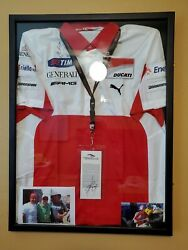 Valentino Rossi/nicky Hayden Duel Autograph Ducati Motogp Pit Shirt 1 Of A Kind