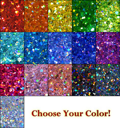Holographic Chunky Glitter Mix For Nails Resin Crafts Tumblers Makeup And Slime