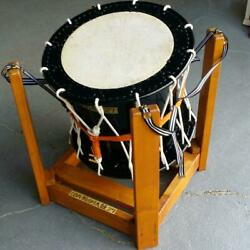 Hanging Taiko Japanese Drum Traditional Music Instrument With Stand Length 70cm
