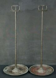 Antique Shokudai Japan Candle Stand Solid Bronze 1800s Lamp Lantern