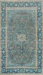 Antique Floral Traditional Area Rug Evenly Low Pile Wool Oriental Handmade 7x10