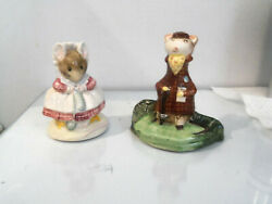 Two Vintage Beswick England Beatrix Potter Figurines- Old Woman- Kitty Mcbride
