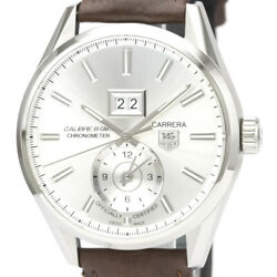 Polished Tag Heuer Carrera Calibre 8 Gmt Steel Automatic Watch War5011 Bf528637