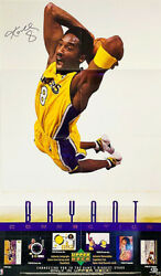 Kobe Bryant In-person Signed 23 X 39 Upper Deck Promo Poster Beckett/bas Loa