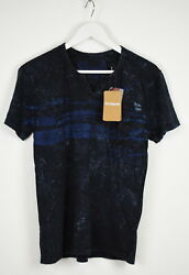Desigual Ts-jose Luis Menand039s Small Textured Embroidered V-neck T-shirt 10538 Mm