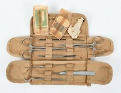 Wwii Usn Navy Corpsman First Aid Medical Pouch And Content