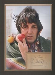 Paul Mccartney. Late 1970and039s Signature. The Beatles. Jsa And Tracks Authenticated.
