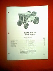 Bolens Husky Hydro Tractor Model 1256-04 With Wisconsin Engine Owner's Manual